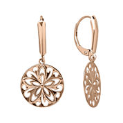 Infinite Gold™ 14K Rose Gold Cutout Disc Earrings