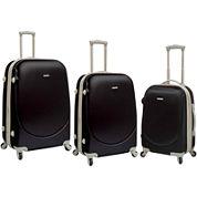 Travelers Club 3-pc. Hardside Spinner Luggage Set