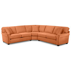 Fabric Possibilities Roll-Arm 3-pc. Loveseat Sectional