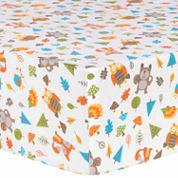 Trend Lab  Woodsy Animals Flannel Crib Sheet