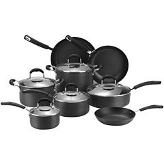 Cooks 13-pc. Classic Dishwasher-Safe Hard-Anodized Nonstick Cookware Set