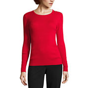 Liz Claiborne Long Sleeve Crew Neck Pullover Sweater