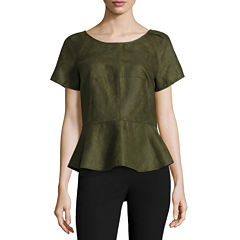 Worthington® Short-Sleeve Peplum Top - Tall