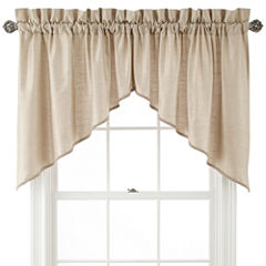 Royal Velvet® Supreme Rod-Pocket Shaped Valance Pair