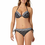 a.n.a® Mix & Match Polka-Dot Push-Up Halter Swim Top or Polka-Dot Keyhole Hipster Bottoms