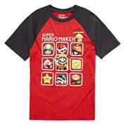 Super Mario Raglan Boys 8-20