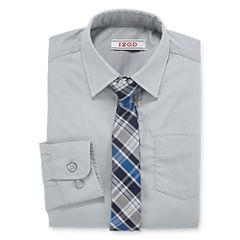 IZOD ® Shirt and Clip-On Tie Set Preschool Boys 4-7