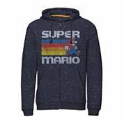 Novelty Season Long Sleeve Super Mario Fleece Hoodie