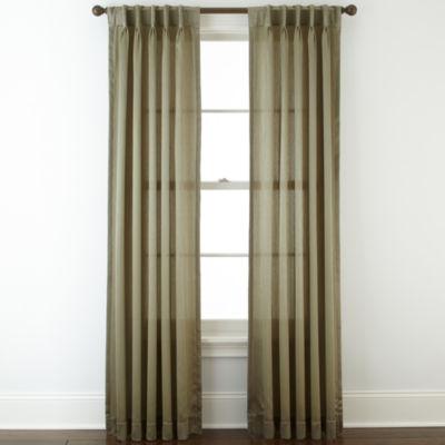 Royal Velvet® Hilton Pinch Pleat/Back Tab Curtain Panel