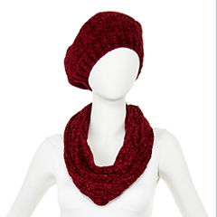 Mixit™ Sequin Chenille Beret and Scarf Set
