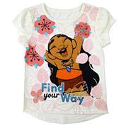 Disney By Okie Dokie Girls Short Sleeve Moana Graphic T-Shirt - Toddler