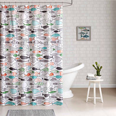 Madfish Cotton Shower Curtain