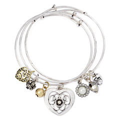 Messages from the Heart® by Sandra Magsamen® 3-pc. Heart Bangle Bracelet Set