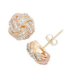 1/3 CT. T.W. Round White Diamond 10K Gold Stud Earrings