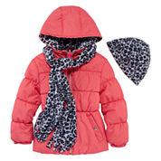 Pink Platinum Girls Heavyweight Puffer Jacket-Preschool