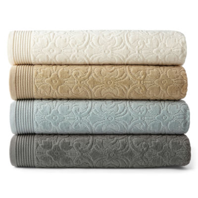 Royal Velvet® Verona Sculpted Bath Towel Collection - JCPenney