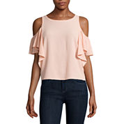 Belle + Sky Mix Media Flutter Top