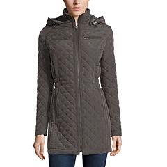 St. John's Bay® Front-Zip Quilt Jacket