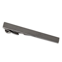 Black Textured Tie Bar
