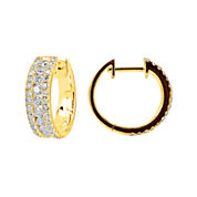 LIMITED QUANTITIES 1 CT. T.W. Diamond Hoop Earrings