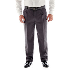 Stafford® Travel Pleated Suit Pants - Portly