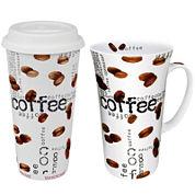 Konitz Coffee Collage 2-pc. Stay/Go Mega Mug Set