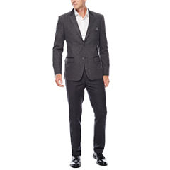 WD.NY Charcoal Twill Suit Separates - Slim Fit