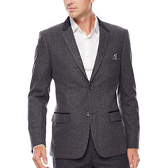 WD.NY Charcoal Twill Suit Jacket - Slim Fit