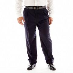 Stafford® Travel Pleated Suit Pants–Big & Tall
