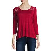 i jeans by Buffalo 3/4 Sleeve Lace Back Top