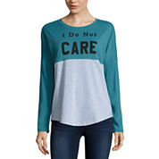 Long Sleeve Scoop Neck T-Shirt-Juniors