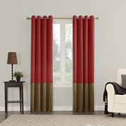 Sun Zero Room Darkening Grommet-Top Curtain Panel