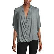 Worthington® Edition Short-Sleeve Drape Front Top