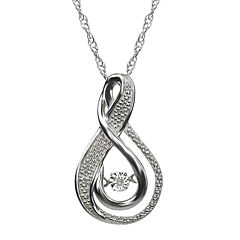 Love in Motion™ Diamond-Accent Sterling Silver Pendant Necklace