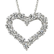 Diamonore™ 1-1/5 CT. T.W. Simulated Diamond Heart Pendant Necklace