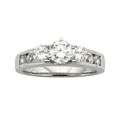 Diamonore™ 1-1/5 CT. T.W. Simulated Diamond Round 3-Stone Ring
