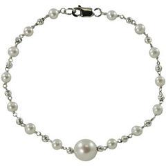 Sterling Silver Cultured Freshwater Pearl Bracelet