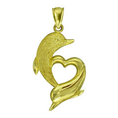 10K Yellow Gold Dolphin Pendant