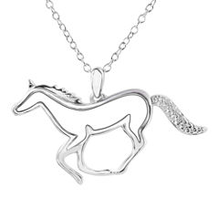 ASPCA® Tender Voices™ Diamond-Accent Horse Pendant Necklace