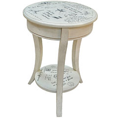 French Script Accent Table