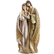 Roman Faux-Wood Holy Family Figurine