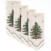 Avanti Spode® Christmas Tree Set of 4 Napkins