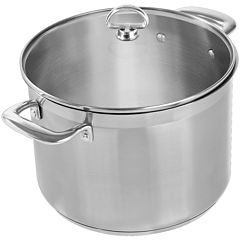 Chantal® Induction 21 Steel™ 8-qt. Stockpot with Glass Lid
