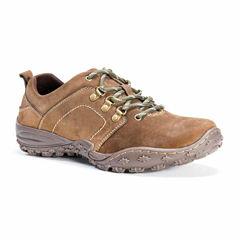MUK LUKS® Kadin Mens Leather Lace-Up Shoes