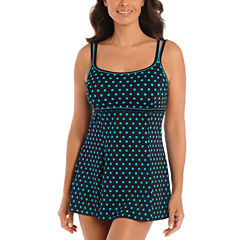 Robby Len By Longitude Solid Swim Dress