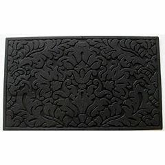 Leaf Scroll Rectangular Doormat - 18