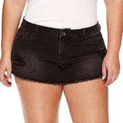 Love Indigo Denim Shorts-Plus