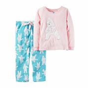 Carter's Girls Long Sleeve Pant Pajama Set-Preschool