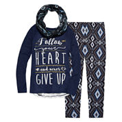 Arizona Crochet Back Top with Scarf Legging Set-Big Kid