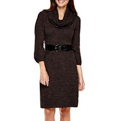 Alyx® 3/4-Sleeve Belted Sweater Dress - Petite
